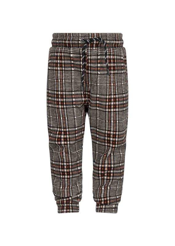 Daily7 Daily7 jog pants fancy check barn bordeaux