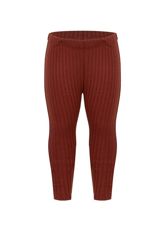 Daily7 Daily7 legging pants rib wine red