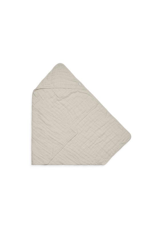 Jollein Jollein Badcape wrinkled cotton 75x75cm nougat