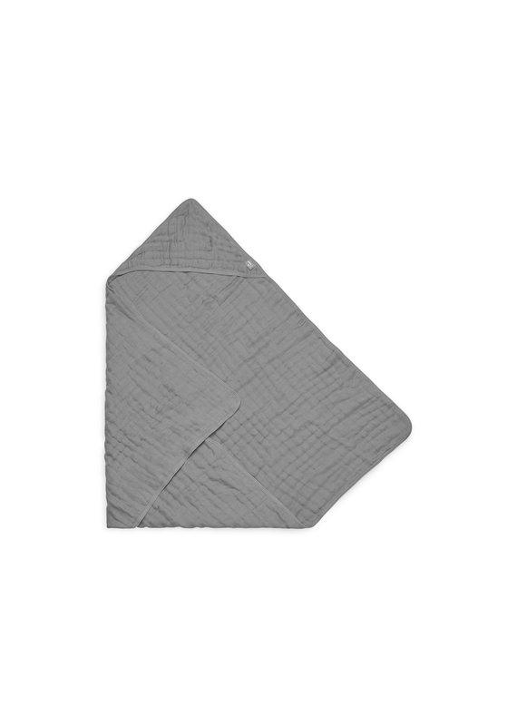 Jollein Jollein Badcape wrinkled cotton 75x75cm storm grey