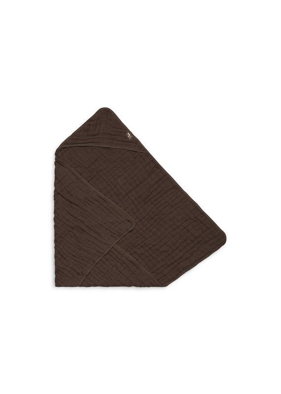 Jollein Jollein Badcape wrinkled cotton 75x75cm chestnut