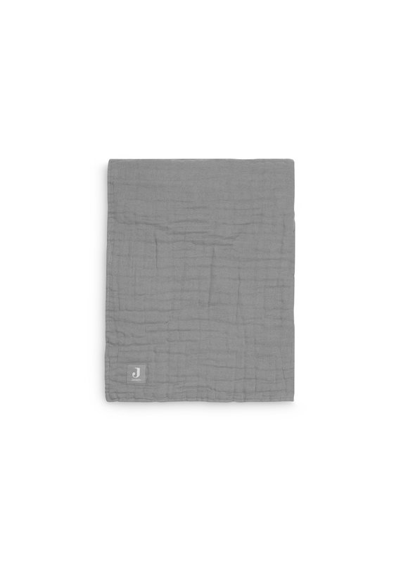 Jollein Jollein Deken 75x100 wrinkled cotton storm grey