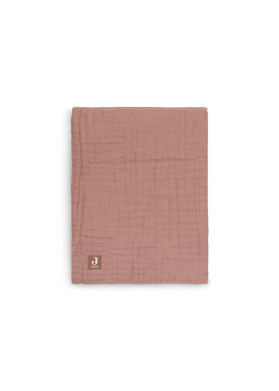 Jollein Jollein Deken 75x100 wrinkled cotton rosewood