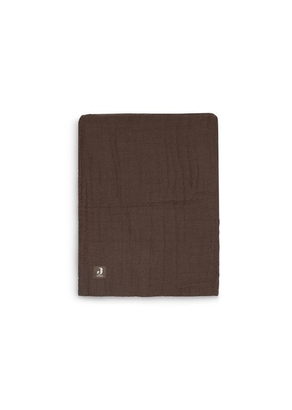 Jollein Jollein Deken 75x100 wrinkled cotton chestnut
