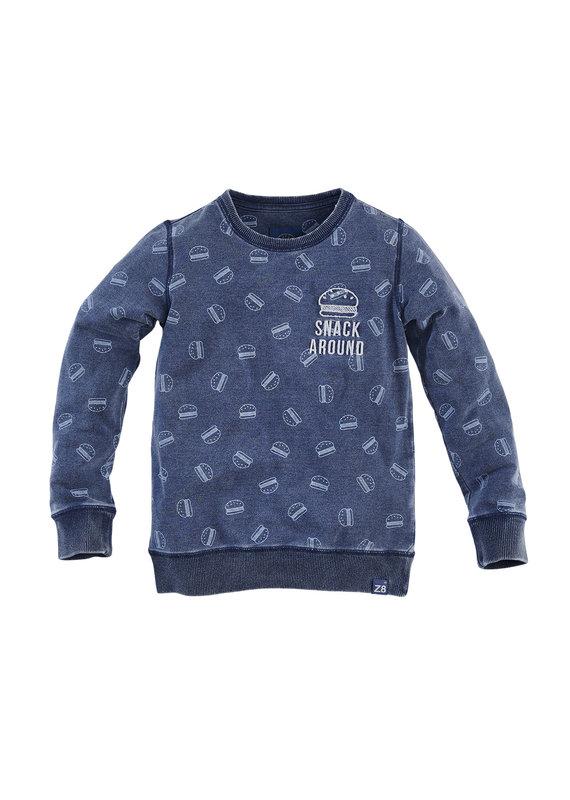 Z8 Z8 sweater Catfish indigo aop