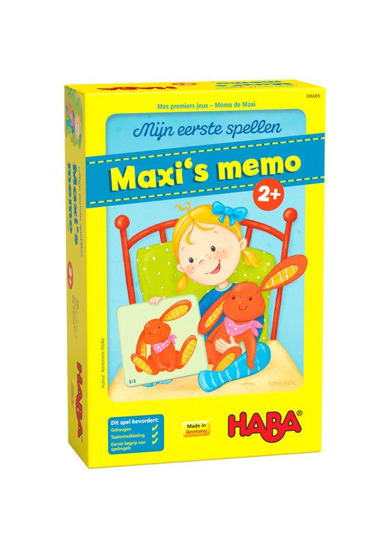 Haba Mijn eerste spellen - Maxi's memo