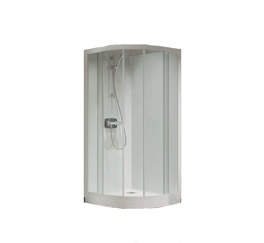 Lambda Premium Kwartrond glas - hoek