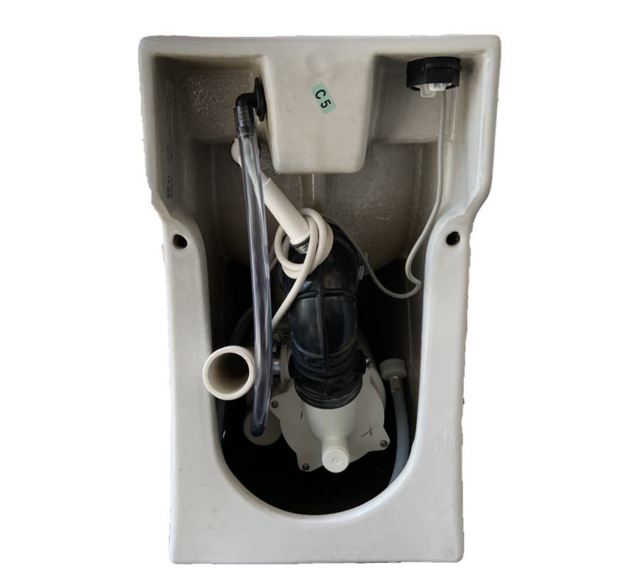 Broyeurtoilet Sani-Start dual flush