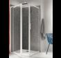 Vaste Douchewand Prima - voor hoekmontage in combinatie met Prima douchedeuren
