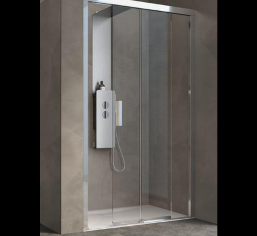 Spazio schuifdeur 140 cm  voor douche - scharnier rechts