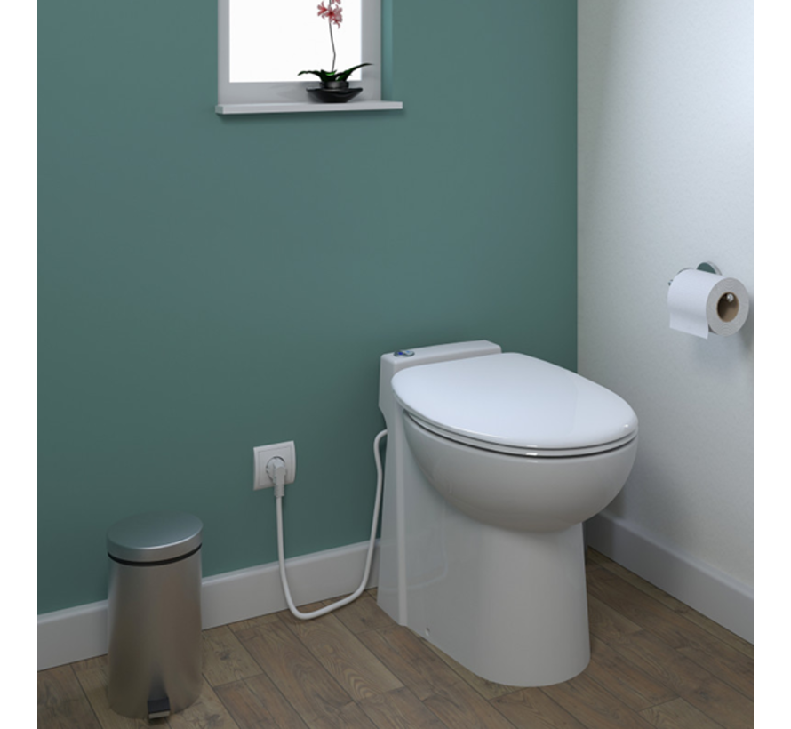 Broyeurtoilet Sani-Start dual flush