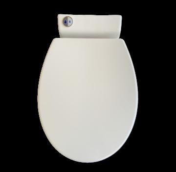Sani-start dual flush wc bril, softclose