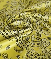 Satijn gele paisley