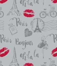Popeline Parijs lichtgrijs