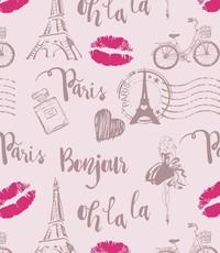 Popeline Parijs lichtrose