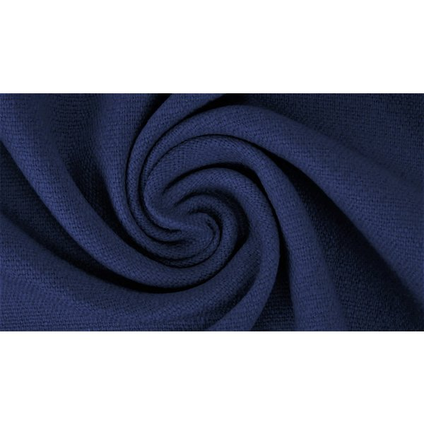 Gewassen linnen marine blauw