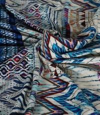 Tricot zigzag blauw