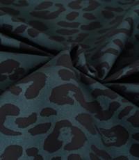 Stretch katoen panter donkergroen