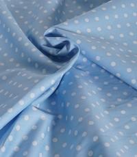 Katoen medium dots lichtblauw