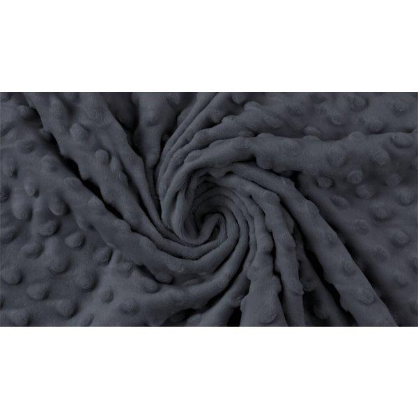 Micro fleece stip donkergrijs