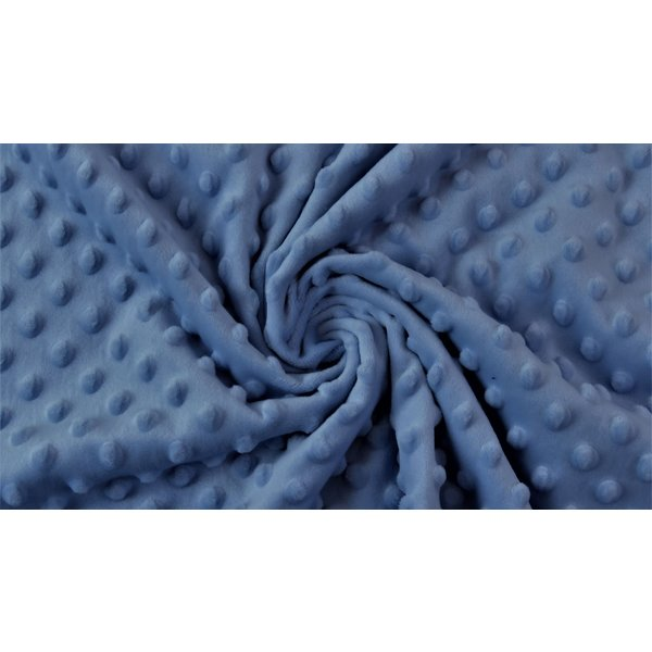 Micro fleece stip jeans blauw
