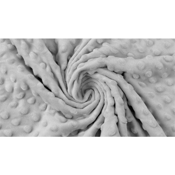 Micro fleece stip licht grijs