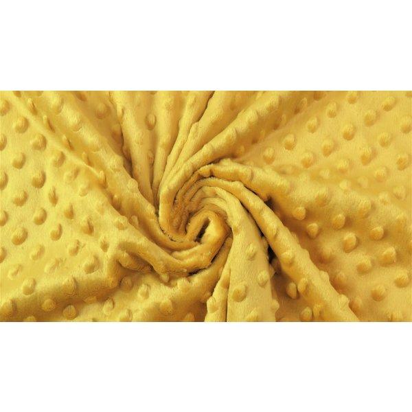 Micro fleece stip okergeel