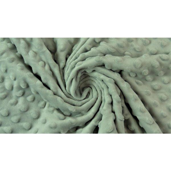 Micro fleece stip oud groen