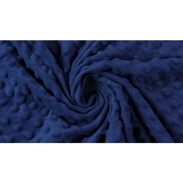 Micro fleece marine blauw