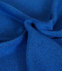 Knitted jogging gemeleerd kobalt