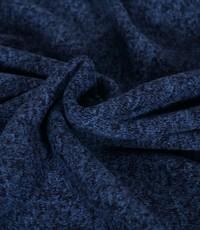 Knitted jogging gemeleerd marine blauw