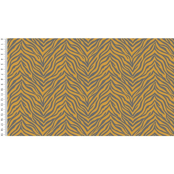 French terry zebra geel