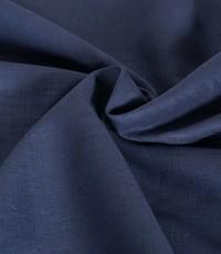 Gewassen linnen jeansblauw