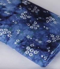 tye and dye blauw mille fleur