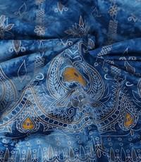tye and dye blauw rand ikat