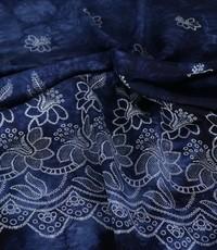 tye and dye donkerblauw met rand bloem
