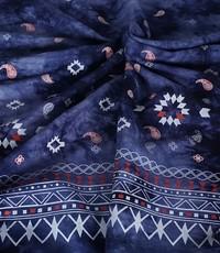 tye and dye donkerblauw met rand paisley