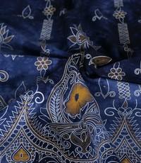 tye and dye donkerblauw rand ikat