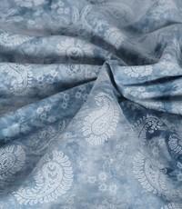 tye and dye jeansblauw met witte paisley