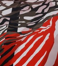 Stretch katoen zebra fantasie