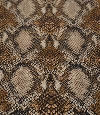 Stretch katoen snake beige