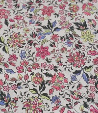 Stretch katoen mille fleurs roze