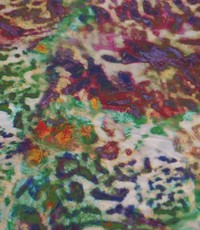 Viscose tijger multicolour groen paars