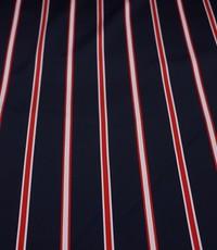 Satijn gestreept rood wit blauw