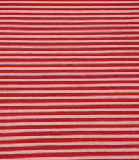 Jogging gestreept smalle streep rood