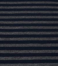 Jogging gestreept 1cm breed navy - grijs