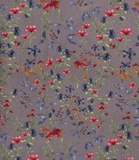 Half linnen mille fleurs grijs