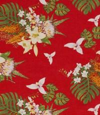 Half linnen lelie rood
