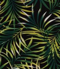 Half linnen jungleblad zwart