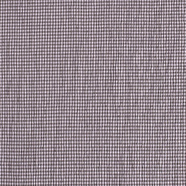 Seersucker ruitje donker grijs-wit